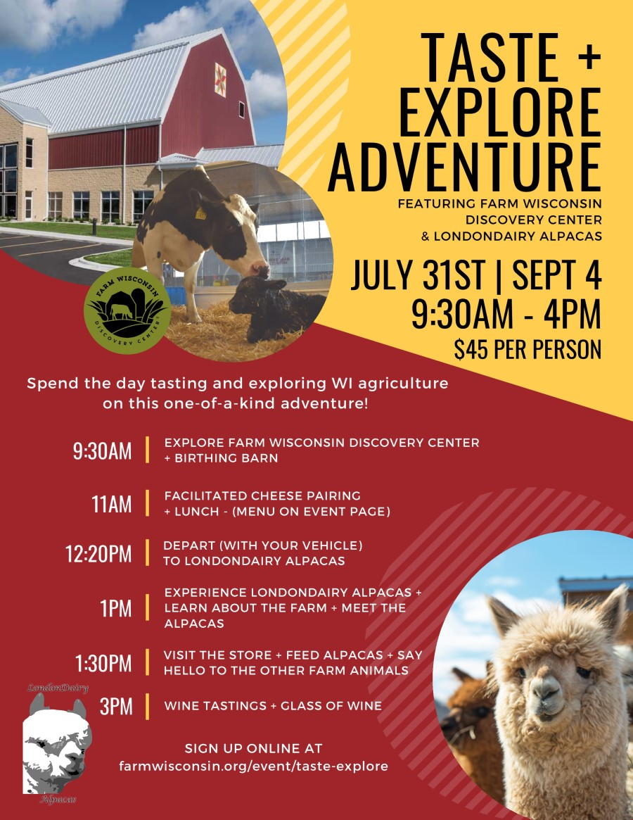 Taste and Explore Drive @ Farm Wisconsin Discovery Center | Manitowoc | Wisconsin | United States